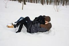 Amour dans la forêt d'hiver Image stock