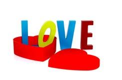 Amour dans la forme de coeur Photo stock