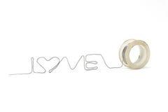 Amour dans la ligne Image stock