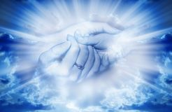 Amour dans la lumière divine Image stock