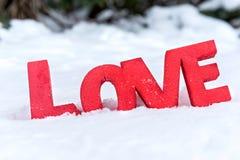 Amour dans la neige Photos libres de droits