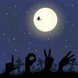 Amour dans la nuit de Halloween Photos libres de droits