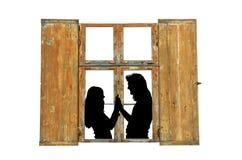 Amour dans la vieille maison Photographie stock libre de droits
