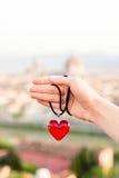 Amour dans la ville de Florence Images libres de droits