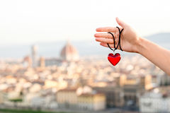 Amour dans la ville de Florence Photo stock