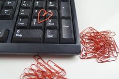 Amour dans le bureau Image libre de droits