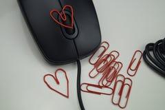 Amour dans le bureau Photos stock