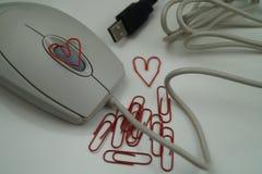 Amour dans le bureau Images stock