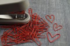 Amour dans le bureau Photographie stock