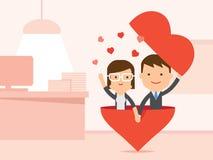 Amour dans le bureau Images libres de droits