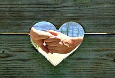 Amour dans le cadre Images stock