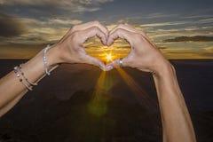 Amour dans le canyon Images libres de droits