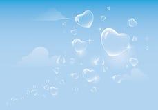 Amour dans le ciel Images stock