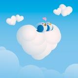 Amour dans le ciel Illustration de Vecteur