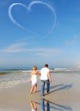 Amour dans le ciel Image libre de droits