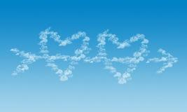 Amour dans le ciel Photos stock