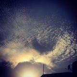Amour dans le clou de ciel Images stock