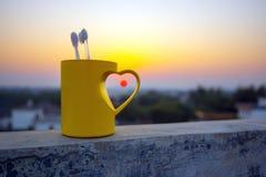 Amour dans le coucher du soleil Image libre de droits