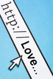 Amour dans le cyberespace Images stock