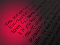 Amour dans le dictionnaire Image stock