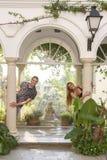 Amour dans le jardin Photo stock