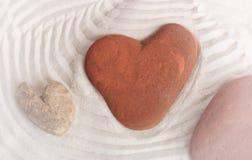 Amour dans le jardin de zen Images libres de droits