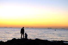 Amour dans le lever de soleil Photographie stock libre de droits