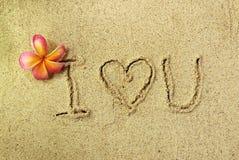 Amour dans le sable Photographie stock
