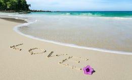 Amour dans le sable Image libre de droits