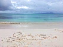 Amour dans le sable dans le cana de punta Photos libres de droits