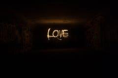 Amour dans les cierges magiques Photos libres de droits