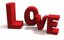 Amour dans les lettres Photographie stock