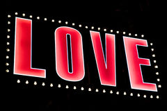 Amour dans les lumières Photos stock