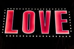 Amour dans les lumières Photo libre de droits