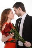 Amour dans leurs yeux Photographie stock