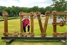 Amour dans Luray avec la salutation modèle femelle Images stock