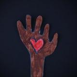 Amour dans ma main Images libres de droits