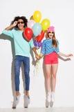 Amour dans toutes les couleurs des arcs-en-ciel Photo libre de droits