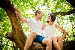 Amour - date sur l'arbre Images stock