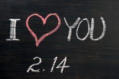 Amour datte avec de valentine 's dessinée Images libres de droits