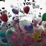 Amour de ballons Images stock