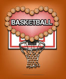 Amour de basketbal illustration libre de droits