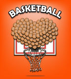 Amour de basketbal illustration de vecteur