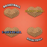 Amour de basketbal illustration stock