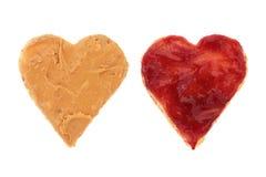 Amour de beurre et de gelée d'arachide Images stock