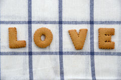 Amour de biscuits Images stock