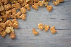 AMOUR de biscuits Photographie stock libre de droits