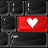 Amour de bouton d'ordinateur Photos stock