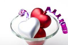 Amour de célébration de jour de Valentine de coeurs de décoration Image stock