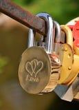 Amour de cadenas Photos libres de droits